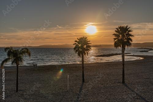 Fototapety, obrazy: ocucher de soleil sur la mer - sunset on the sea
