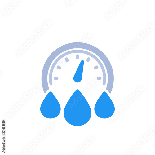 Cuadros en Lienzo water consumption icon on white