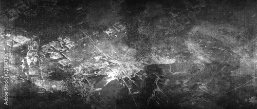 Fotografie, Tablou white and black scratch metal background and texture.