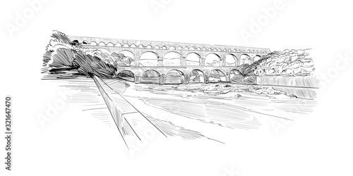 Pont du gard aqueduct Fototapete