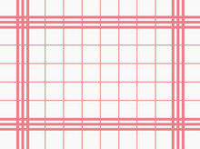 Old White Kitchen Towel With Red Checks