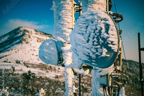 Fotografering Windblown Ice at the summit of Mt Seorak