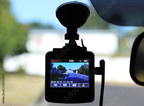 Vehicle dash cam Fotobehang