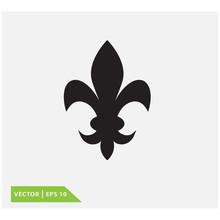 Fleur De Lis Icon Vector Logo ...