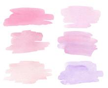 Watercolor Hand Drawn Pink Spl...