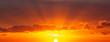 canvas print picture - rising sun 3