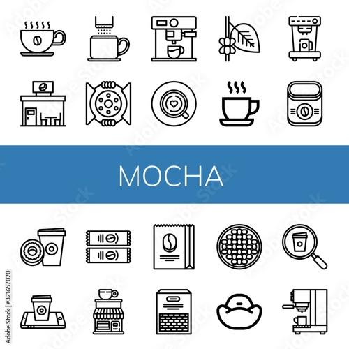 Fotografie, Obraz mocha icon set