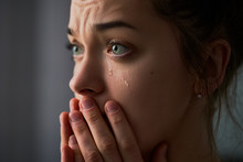 Sad Desperate Crying Female Wi...