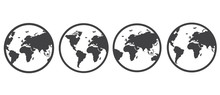 Earth Icon. Simple Flat Symbol...