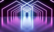 Blue And Purple Luminous Fluor...