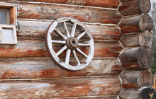 Wooden Wheel From A Cart On Th...