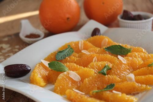 Fényképezés salade d'orange
