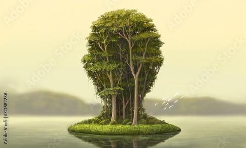 Valokuvatapetti Nature and environment concept surreal artwork