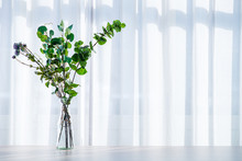 Bouquet In Vase Decorated Near...