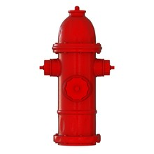 Red Fire Hydrant On A White Ba...