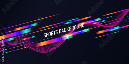 Photo Modern colored poster for sports. Vector illustration