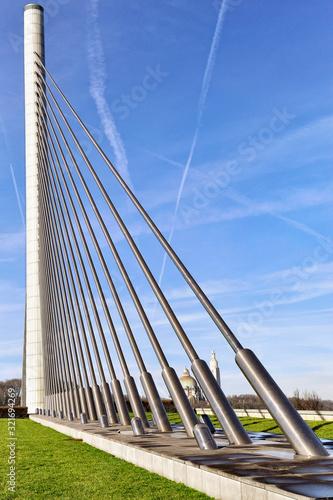 Pont de l'E25 a Liege Canvas Print