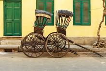 Hand Pulled Rickshaws Are Park...