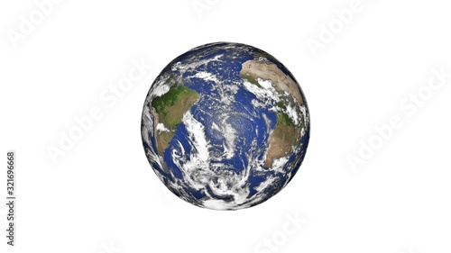Photo Earth planet isloated on white background