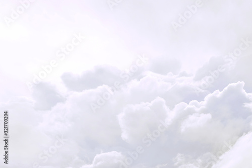 fluffy sky cloudy atmosphere abstract Fotobehang