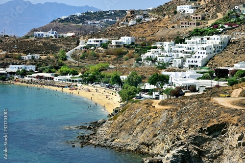 The white low rise house of Mykonos Wallpaper Mural