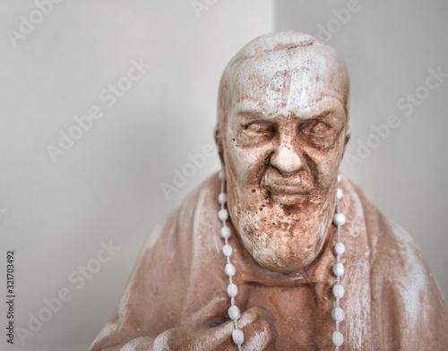 Statue of Saint Father Pio Wallpaper Mural