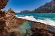 Brave sea in Mallorca
