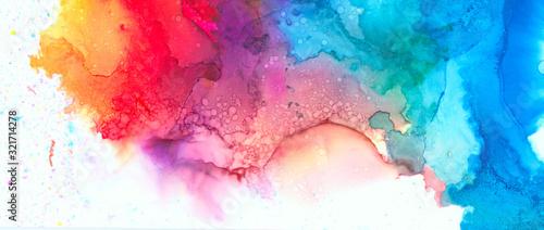 Art Abstract paint blots background Fototapet