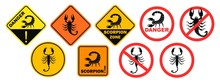 Scorpion Danger Sign. Isolated...
