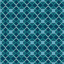 A Geometric Abstract Teal Grid...