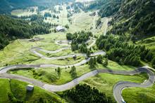 Serpentine Leading To Passo Ga...