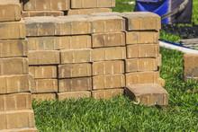 Pile Of Paver Bricks Stacked I...