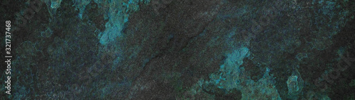 Anthracite  turquoise aquamarine abstract stone slate tiles background banner pa Canvas Print