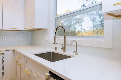 Cuadros en Lienzo New classic kitchen in modern style a new sink in kitchen