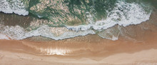 Aerial View Of Beautiful Sandy...