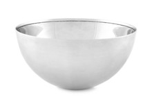 Empty Clean Metal Bowl Isolate...