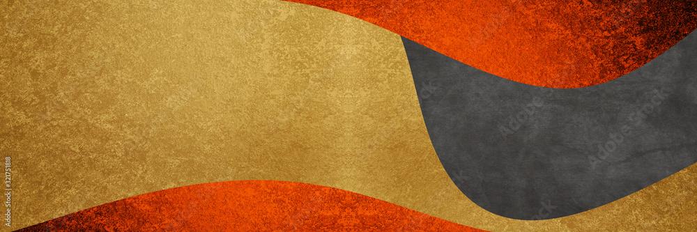 Fototapeta 赤と金と黒の背景デザイン