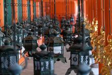 Japanese Metalic Lantern In Ka...