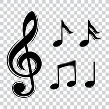 Music Notes, Isolated Music Ic...