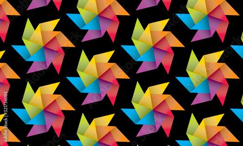 Vászonkép pinwheel party pattern