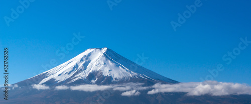 Mt. Fuji in autum from Fujiyoshida, Japan Canvas Print