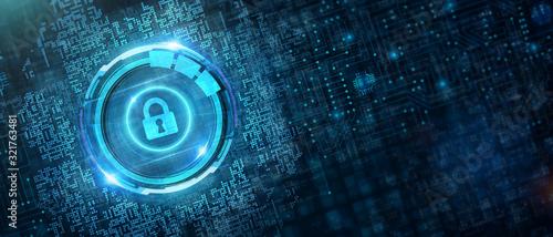 Fényképezés Cyber security data protection business technology privacy concept