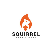 Squirrel Illutration Vector Lo...