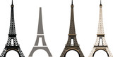 Fototapeta Fototapety z wieżą Eiffla - Silhouette and isolate Eiffel tower at Paris of France.