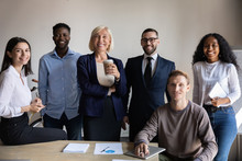 Six Confident Businesspeople I...