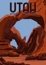 Utah Vector Illustration Backg...