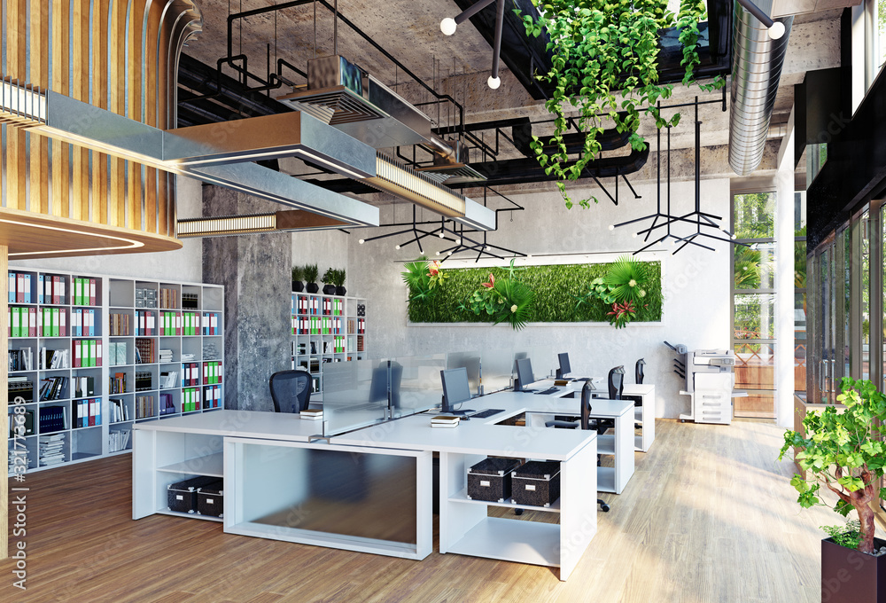 Fototapeta modern office interior,