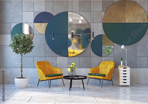 Obraz modern  interior, - fototapety do salonu