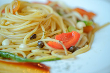 Cooked Pasta With Vegetables O...