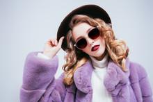 Lilac Fur Coat